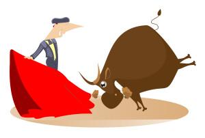 red rag bull reaction