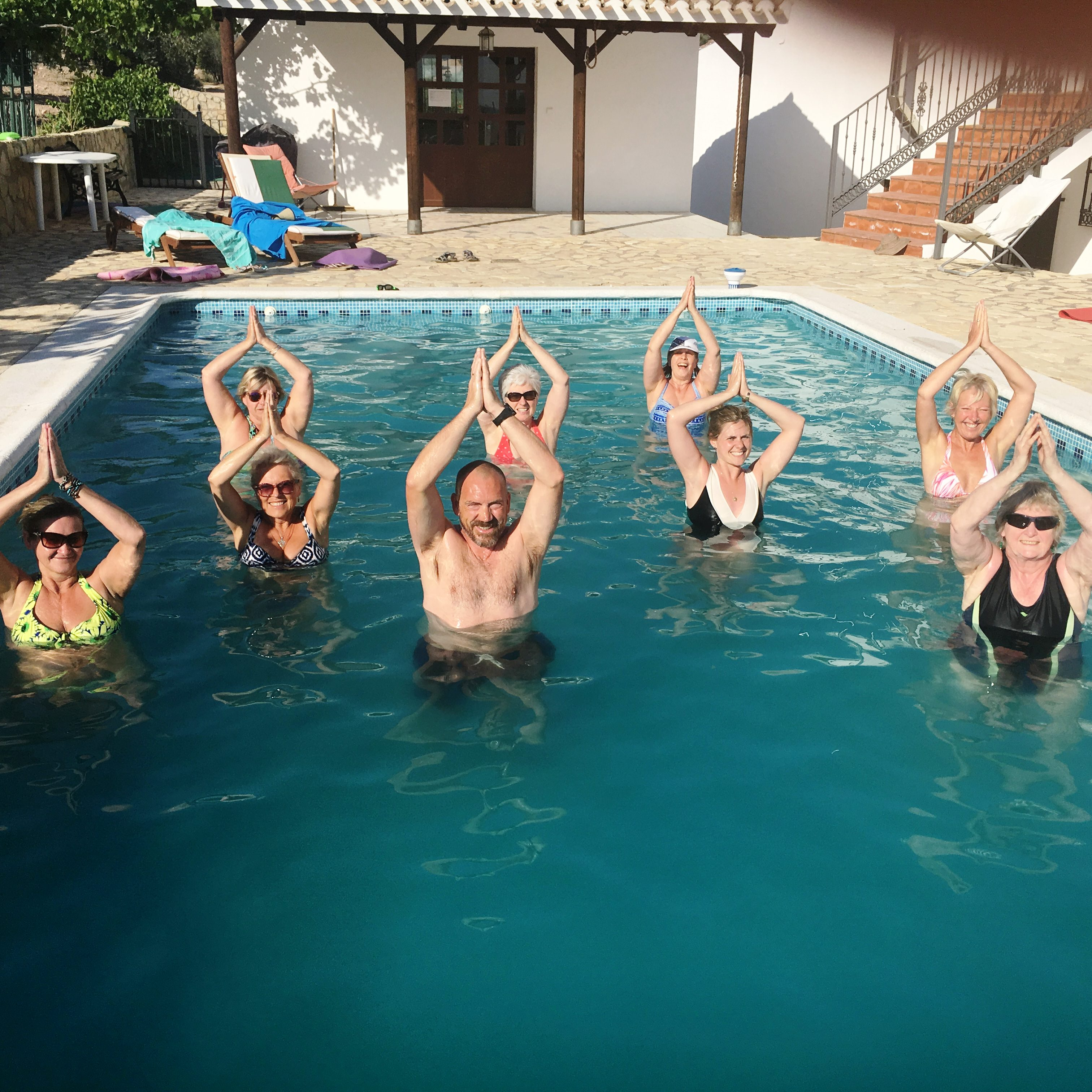 pool yoga for weightless body image healing